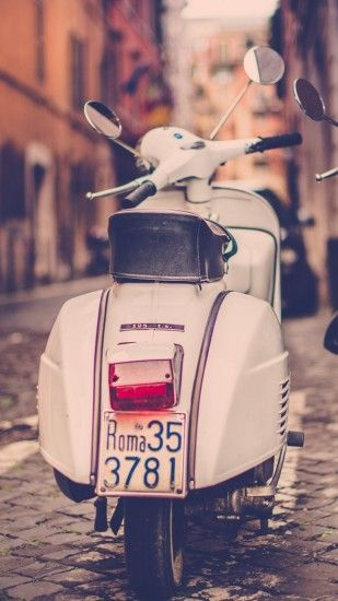 1080x1920 Wallpaper scooter, piaggio, street, road, rome, italy