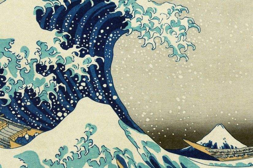 Ab75 Wallpaper Great Wave Off Kanagawa Wallpaper