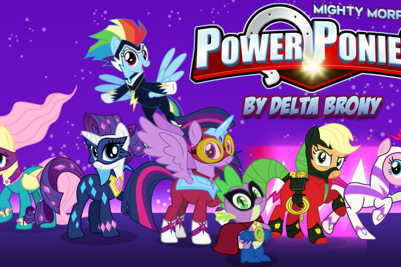 Cartoon - My Little Pony: Crossover My Little Pony Power Rangers Vector  Mighty Morphin Power