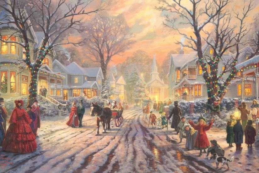 Victorian Christmas Carol By Thomas Kinkade