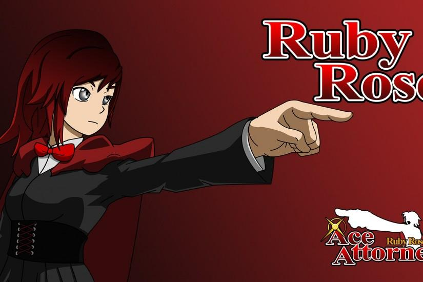 Ruby Rose Ace Attorney Background.