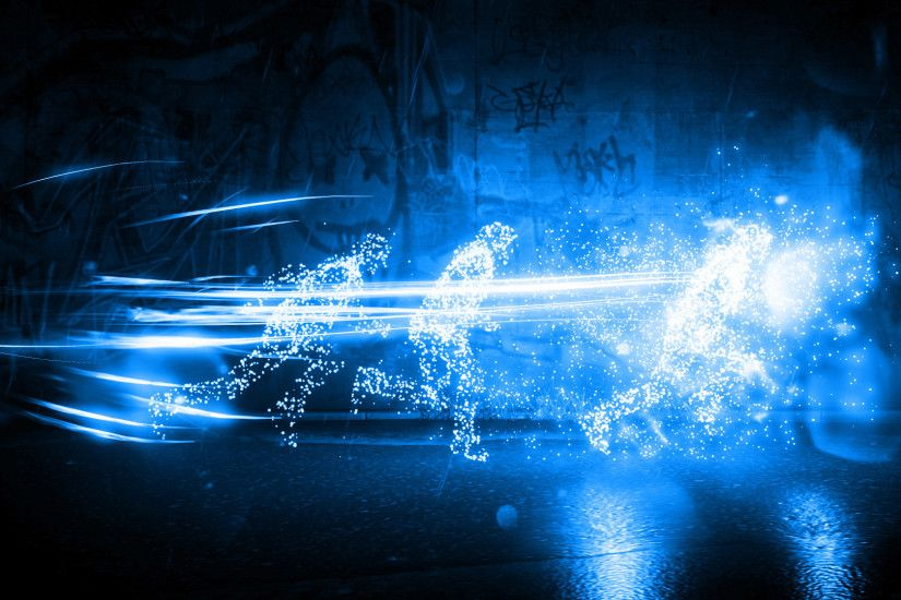 ... Infamous Second Son Blue Neon Wallpaper 1 by XtremisMaster