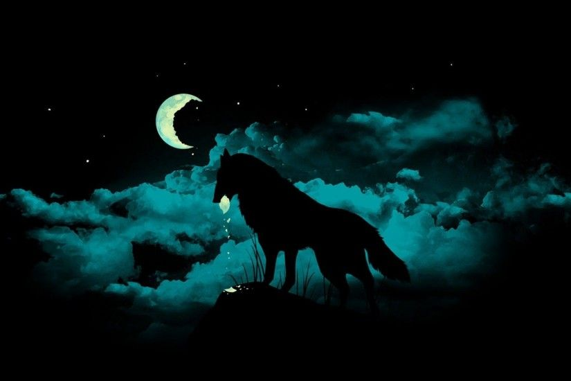 Wallpapers For > Black Wolf Backgrounds