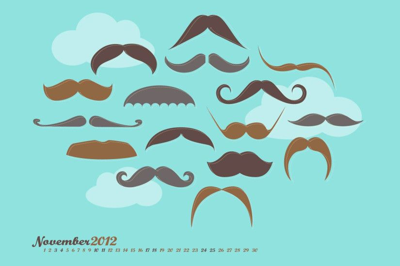 mustache movember november 2012 calendar wallpaper 1920×1080 desktop  wallpapers high definition windows 10 mac apple colourful images backgrounds  download ...