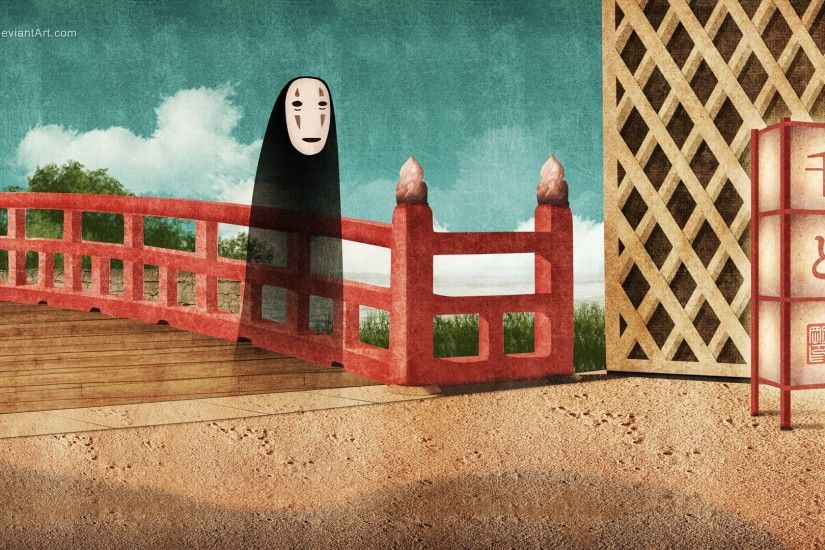 ... background wallpaper Spirited Away · no face ...