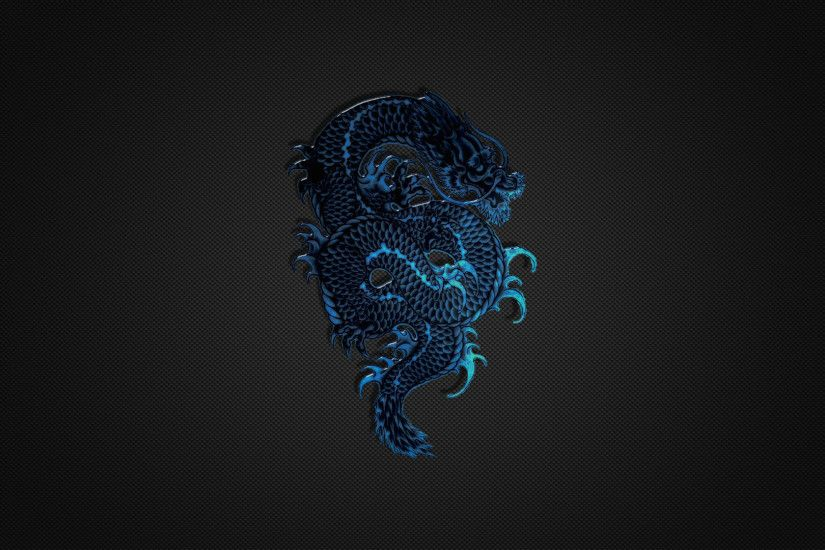 Wallpaper hd 1080p blue dragon logo on black wallpapers.