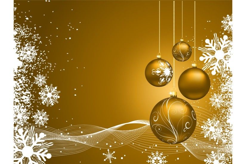 Gold Merry Christmas 4K Wallpaper