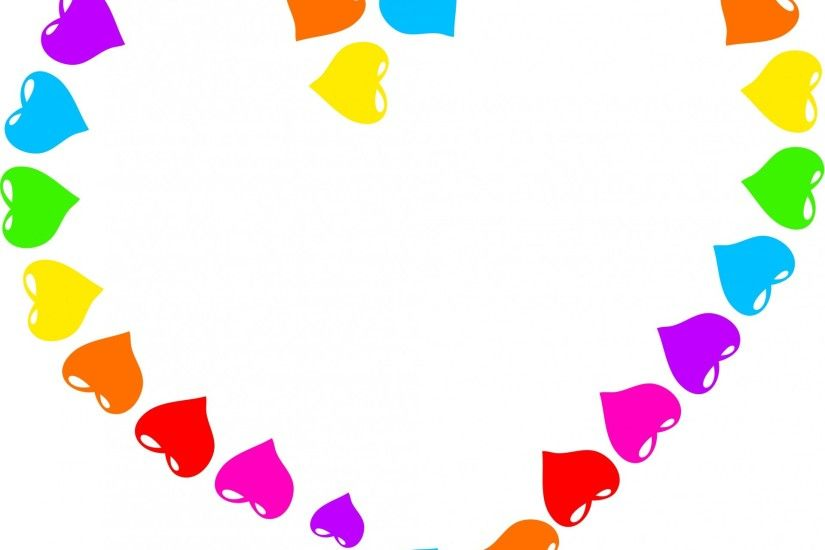 ... Rainbow Heart Clipart ...