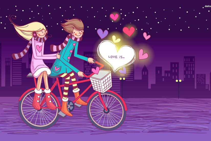 valentines day animated cartoon wallpaper free hd desktop