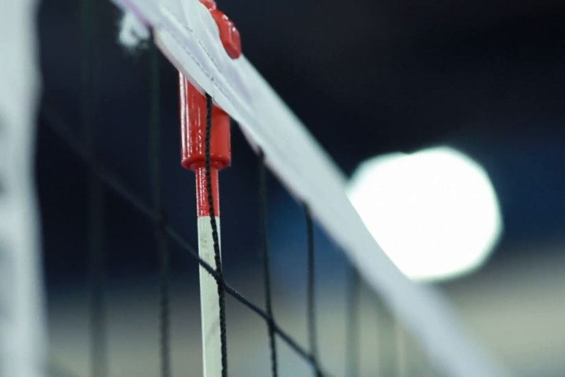 Close-up of Volleyball Net at Indoor Court Stock Video Footage - VideoBlocks