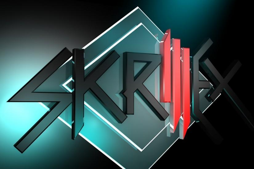 Preview wallpaper skrillex, name, symbol, graphics, light 1920x1080