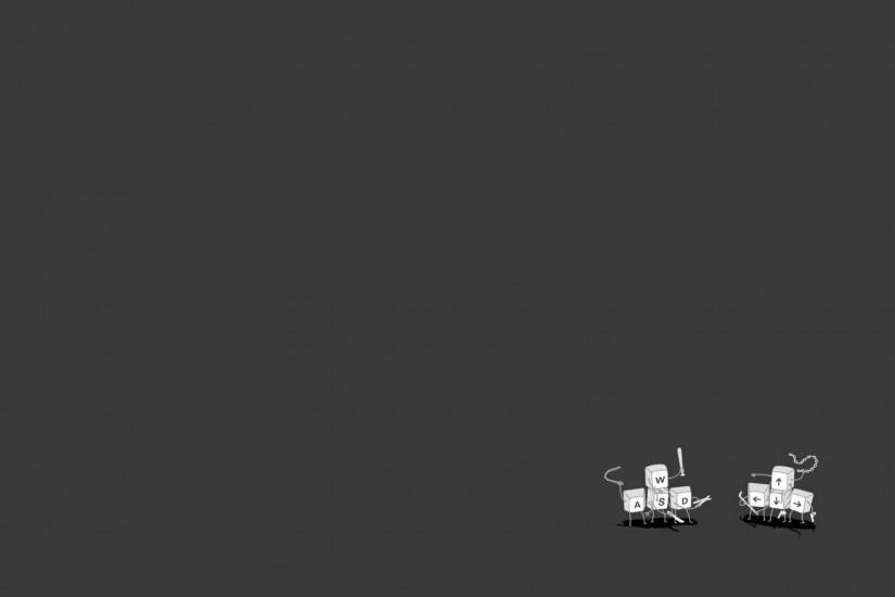Minimalistic computers funny simplistic simple wallpaper | 1920x1080 .