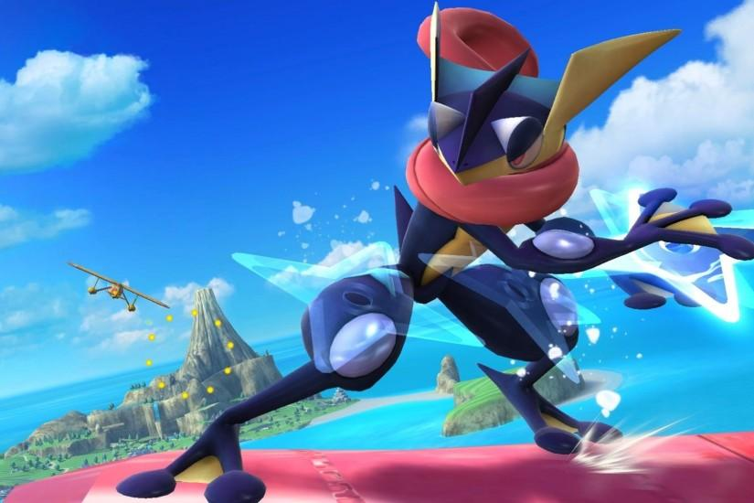 ... Greninja HD Background ...