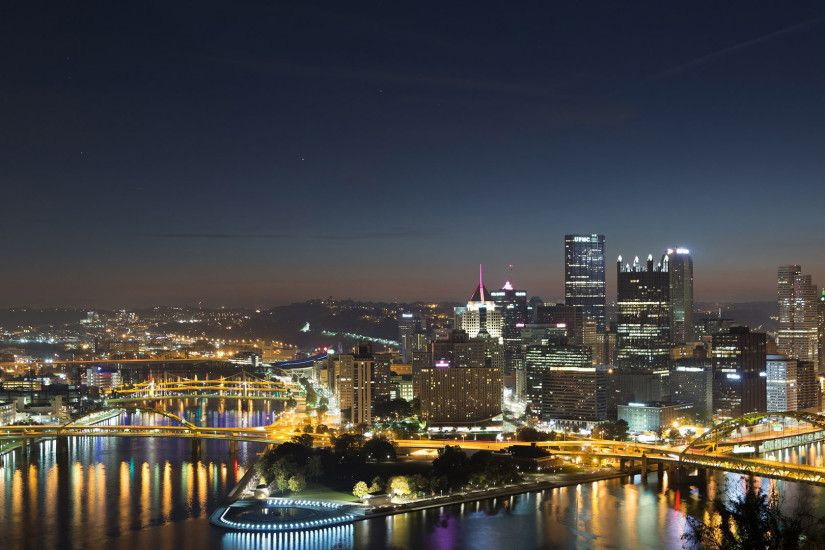 ... Pittsburgh city night skyline time lapse live wallpaper in 1080 HD  retina photography