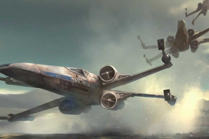 Movie - Star Wars Episode VII: The Force Awakens Star Wars X-Wing Wallpaper