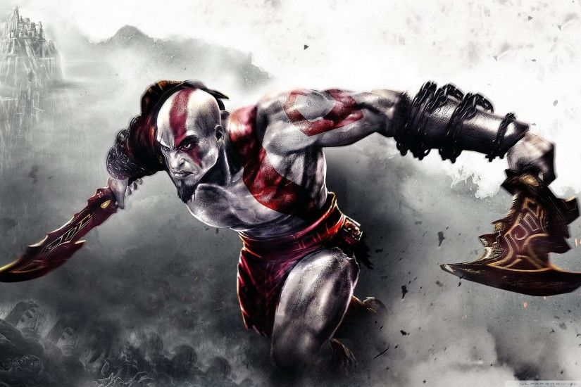 God of War 3 HD Wide Wallpaper for 4K UHD Widescreen desktop & smartphone