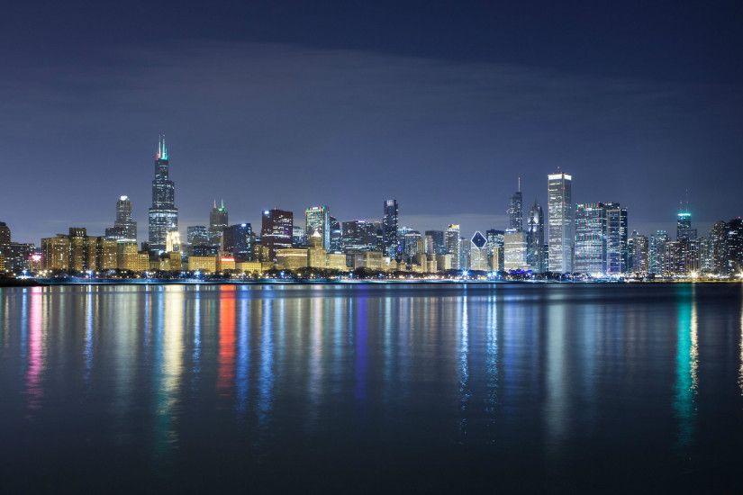 hd chicago skyline photo