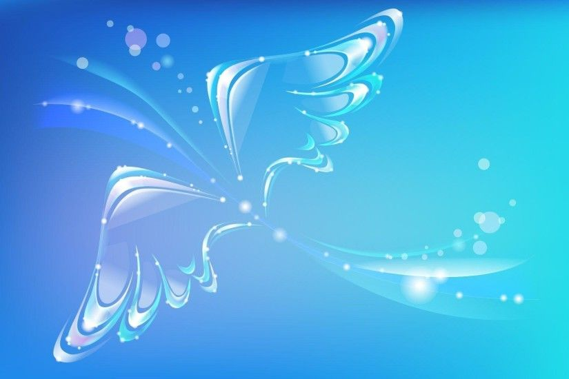 Angels images Blue Angel wings wallpaper and background photos .