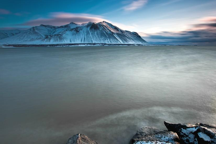 Preview wallpaper iceland, mountains, cold, stones 3840x2160