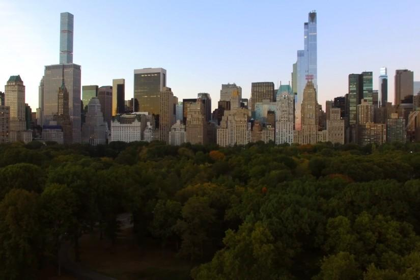 breathtaking helicopter shot of modern city panorama view. new york city  background Stock Video Footage - VideoBlocks