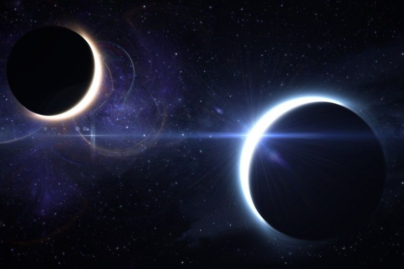 2560x1600 Wallpaper lunar eclipse, solar eclipse, space