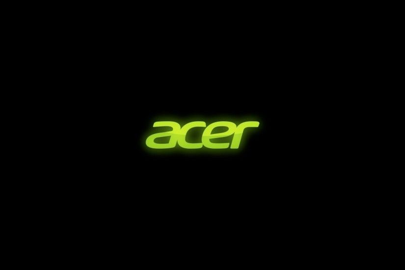 Preview wallpaper acer, firm, green, black 1920x1080