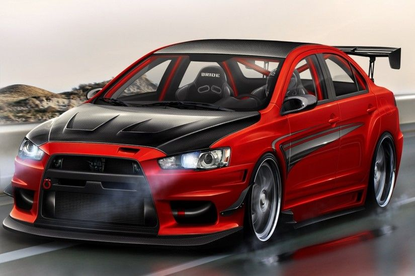 mitsubishi lancer evolution lancer red red tuning tuning evo x