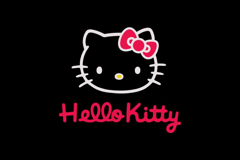 ... Pink Black & White Hello Kitty | Wallpaper made by me .