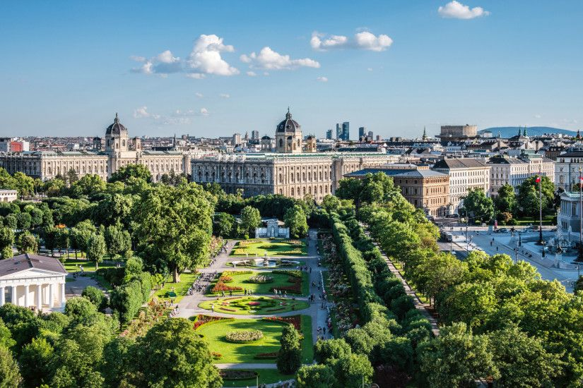 1920x1080 Wallpaper vienna, austria, capital, travel, view from above