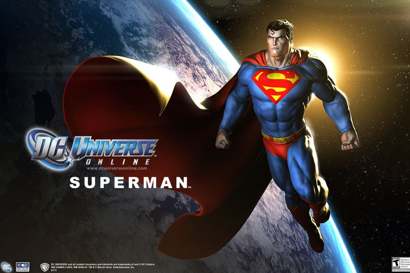 DC Universe Online Superman Wallpaper - DC Comic Man of Steel