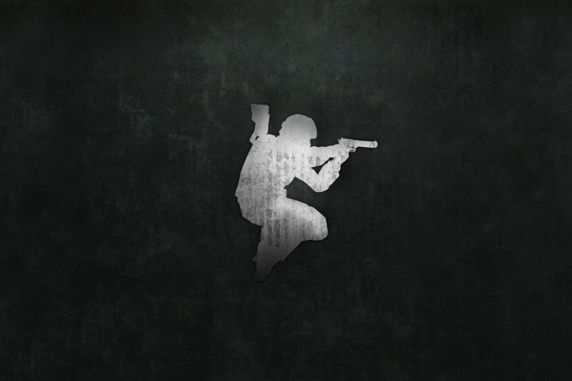 Preview wallpaper counter-strike, picture, background, pistol, soldier  3840x2160