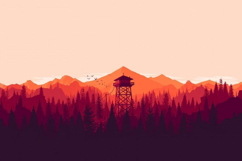 firewatch wallpaper 1920x1200 retina