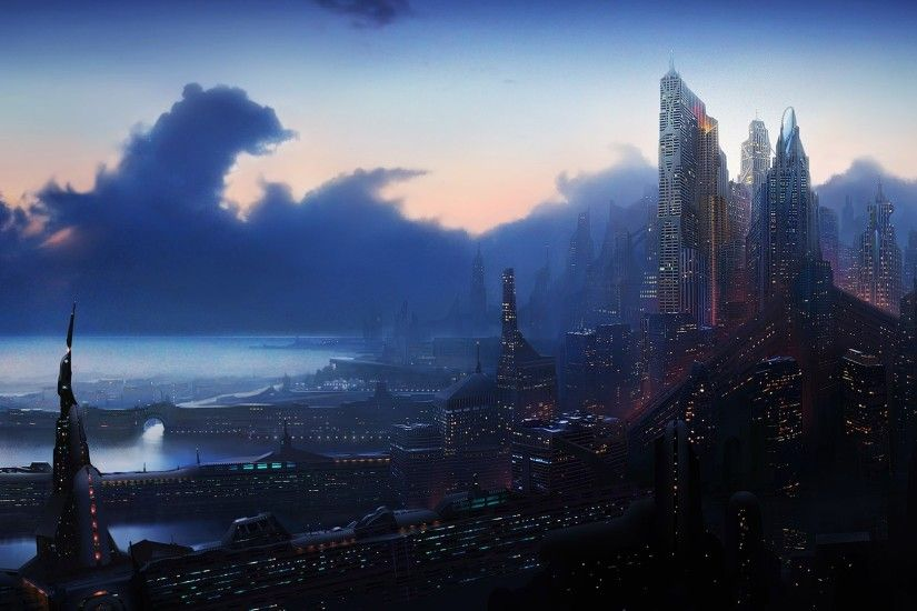 wallpaper futuristic · city · future