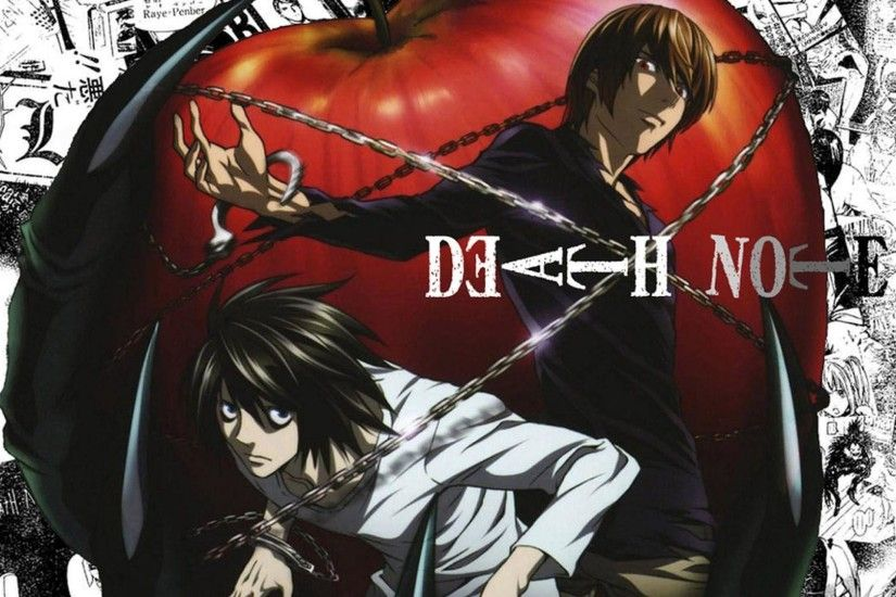 Death Note Kira Vs L High Resolution Wallpaper HD - dlwallhd.