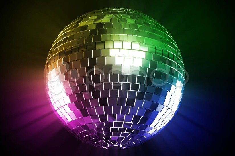 Colorful Disco Ball disco ball and color ray . stock footage - youtube