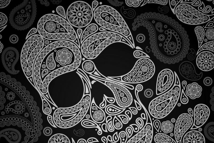 Sugar Skull Wallpaper Paisley skull …
