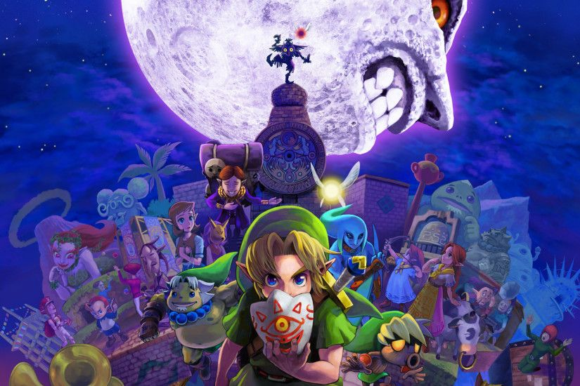 The legend of zelda majora's mask desktop wallpapers 3ds