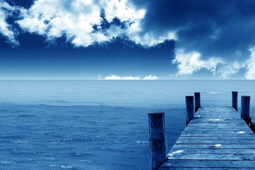 1920x1080 Blue Sea and Sky HD Wallpaper. Most Beautiful .