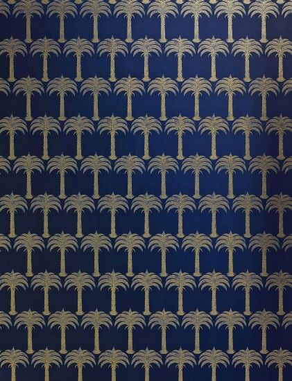 Marrakech Palm by Barneby Gates - Midnight Blue : Wallpaper Direct £78