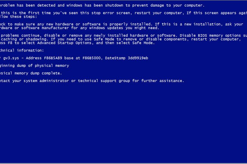 Fake Blue Screen Death in Window 7 and 10