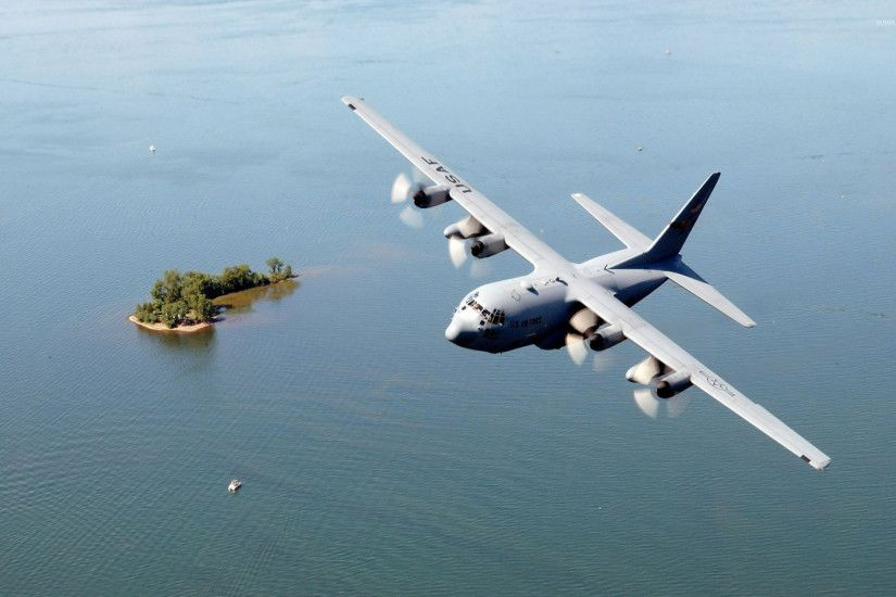 Wallpaper AC 130, air support, gunship, Lockheed, U.S. Air Force