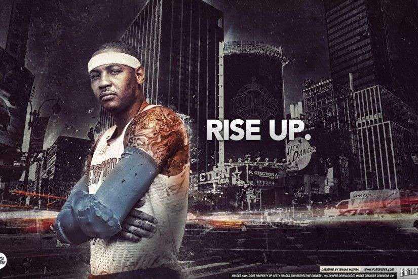 Carmelo Anthony New York Knicks Rise Up Wallpaper