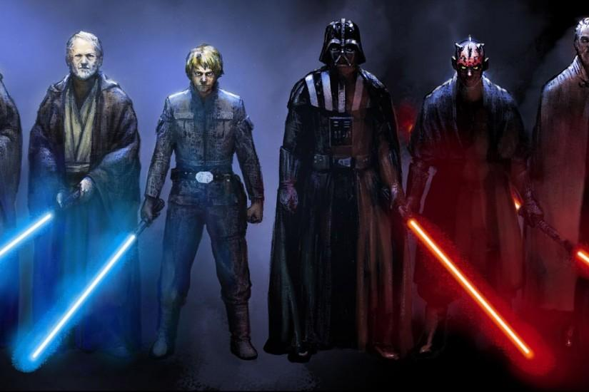 Jedi And Sith Star Wars Movie Wallpaper