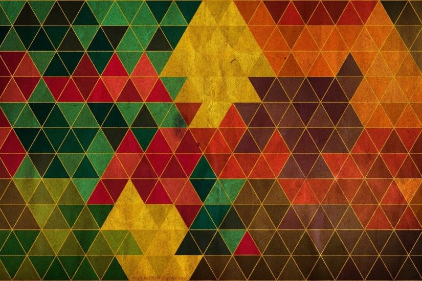 Triangle Pattern Abstract HD Wallpaper