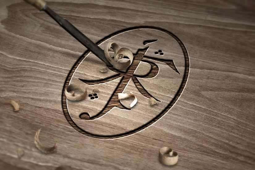 ... J.R.R. Tolkien Symbol - Carved Wood by dapence