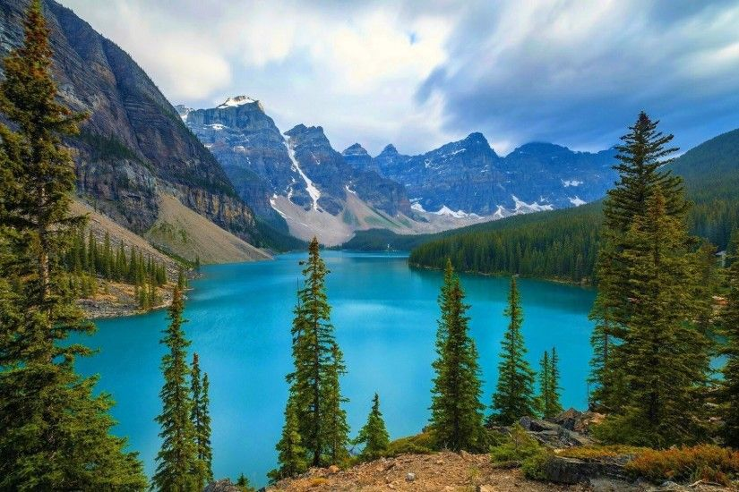 ... Animated Nature Wallpaper For Mobile Phones 3 Backgrounds Lakes  National Moraine Park Banff Animated Nature For ...
