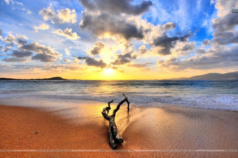 "You are viewing wallpaper titled ""Sunset Beach ..."