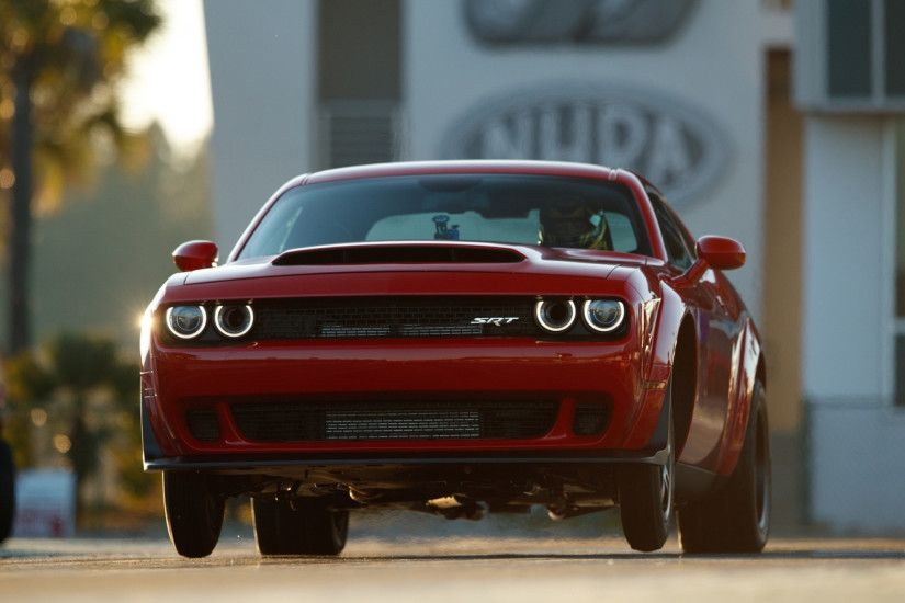 2018 Dodge Demon Drag Strip Android Wallpaper