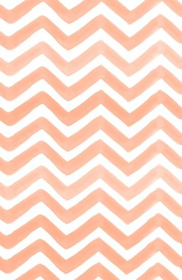 Painted Peach Chevron pattern by Rebecca Allen