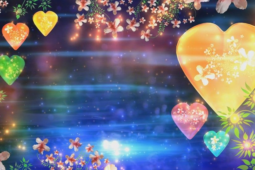 4K Heart & Flowers Traditional Hindu Colorful Florish Love HD Background  Animation - YouTube